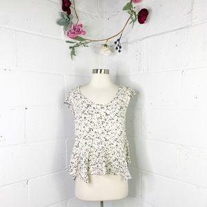 Katie K floral short sleeve top
